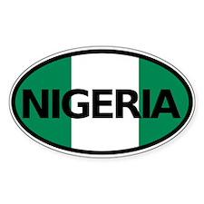 Nigeria Flag Car Bumper Sticker Decal Oval