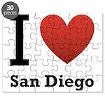 I Love San Diego Puzzle