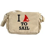I Love to Sail Messenger Bag