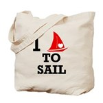 I Love to Sail Tote Bag