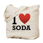 I Love Soda Tote Bag