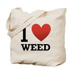 I Love Weed Tote Bag