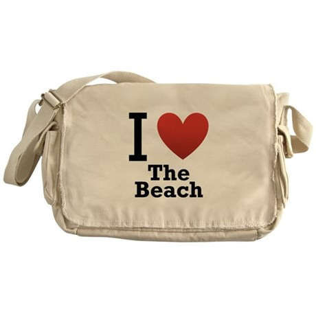 I Love the Beach Messenger Bag