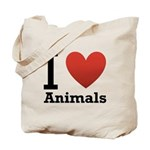 I Love Animals Tote Bag