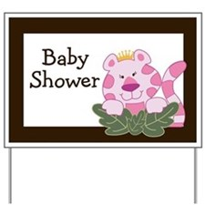 Queen of the Jungle Baby Shower Yard Sign
