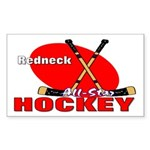 Rednexk Hockey Rectangle Sticker