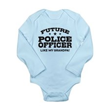 Future Police Officer Long Sleeve Infant Bodysuit