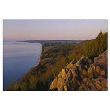 High angle view of headland over a bay, Hano, Sten