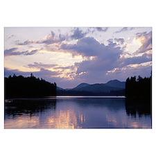 Sunset Rollins Pond Adirondack Mountains NY