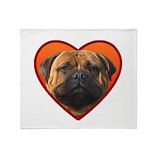 Valentine's Bullmastiff Throw Blanket