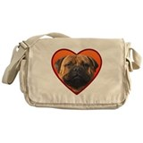 Valentine's Bullmastiff Messenger Bag