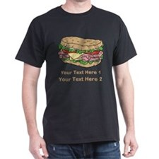 Sandwich. Custom Text. T-Shirt