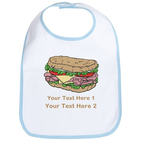 Sandwich. Custom Text. Bib