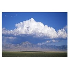 Mountains w\ cumulus clouds NV