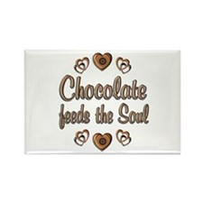 Chocolate Feeds Souls Rectangle Magnet (100 pack)