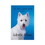 Westie Mom Rectangle Magnet