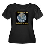 I Believe In Global Warming Women's Plus Size Scoo