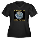 I Believe In Global Warming Women's Plus Size V-Ne
