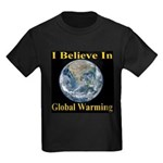 I Believe In Global Warming Kids Dark T-Shirt