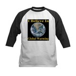 I Believe In Global Warming Kids Baseball Jersey