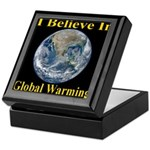 I Believe In Global Warming Keepsake Box