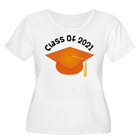 Class of 2021 (Orange) Women's Plus Size Scoop Nec