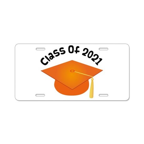 Class of 2021 (Orange) Aluminum License Plate