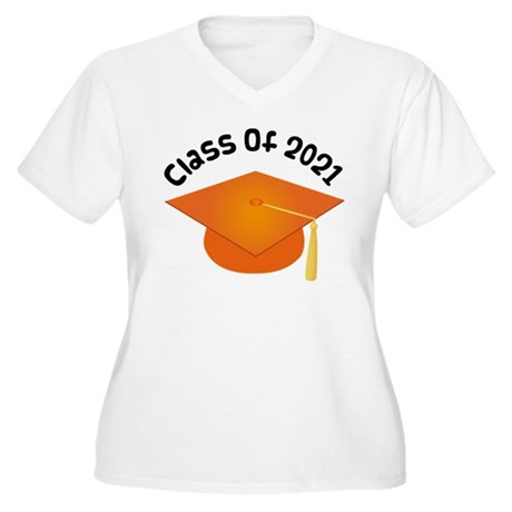 Class of 2021 (Orange) Women's Plus Size V-Neck T-