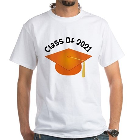 Class of 2021 (Orange) White T-Shirt