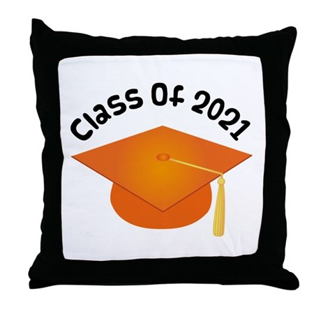 Class of 2021 (Orange) Throw Pillow