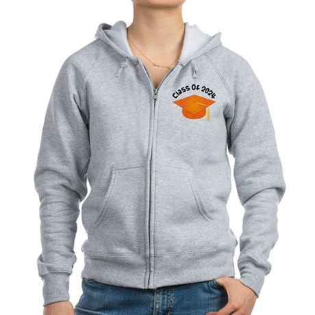 Class of 2024 (Orange) Women's Zip Hoodie