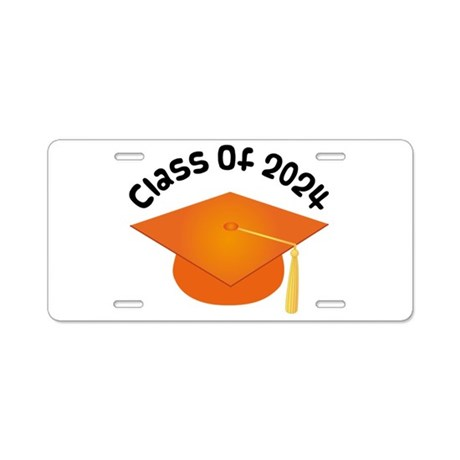 Class of 2024 (Orange) Aluminum License Plate