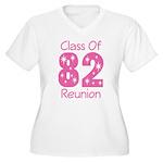 Class of 1982 Reunion Women's Plus Size V-Neck T-S