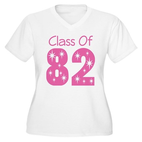 Class of 1982 Women's Plus Size V-Neck T-Shirt
