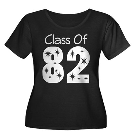 Class of 1982 Women's Plus Size Scoop Neck Dark T-