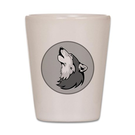 Wolf in Shades of Gray. Shot Glass