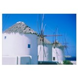 Traditional windmills in a row, Mykonos, Cyclades