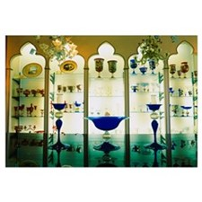 Decorative glass objects on display, Signorotti Gl