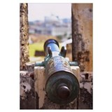 Close-up of a cannon at a castle, Castillo De San
