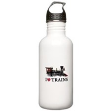 I LOVE TRAINS Sports Water Bottle