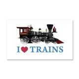 I LOVE TRAINS Car Magnet 20 x 12