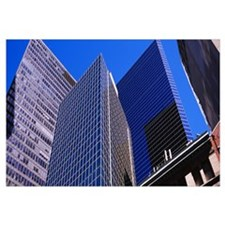 Low angle view of buildings, Lower Manhattan, Manh