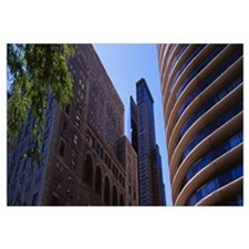 Low angle view of buildings, Central Park, Manhatt