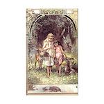 Vogel's Snow White & Rose Red Sticker (Rectangular