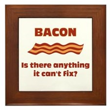 Bacon, Is There Anything It C Framed Tile