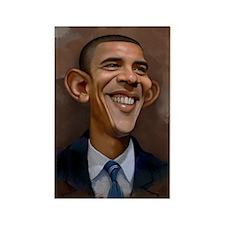 Obama Caricature Rectangle Magnet