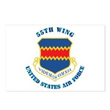 55th Wing with Text Postcards (Package of 8)