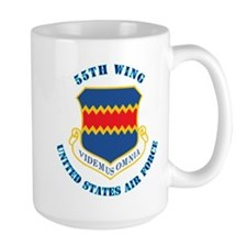 55th Wing with Text Mug