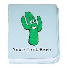 Desert Cacti. Custom Text. baby blanket