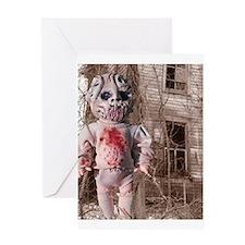 Scary Nigel doll Greeting Card